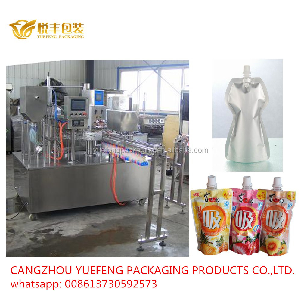 Automatic Blackberry Syrup Or Pepper Oil Spouted Pouch Filling Machine Best Price