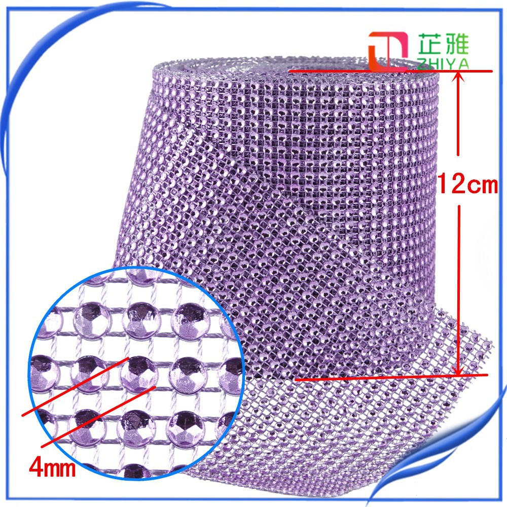 2015 24rows rhinestone mesh for home decor for birthday candles ,wedding decoration use