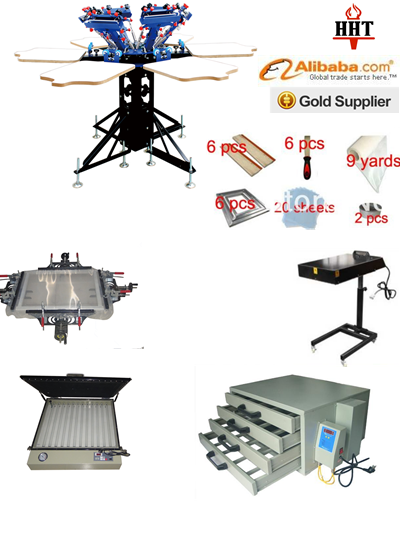 portable manual silk screen printing machine , made for private family and small manufactures