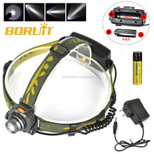 High Power Rechargeable LED Infrared Sensor Headlamp with 18650 Battery