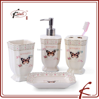 new butterfly desgin ceramic bath set