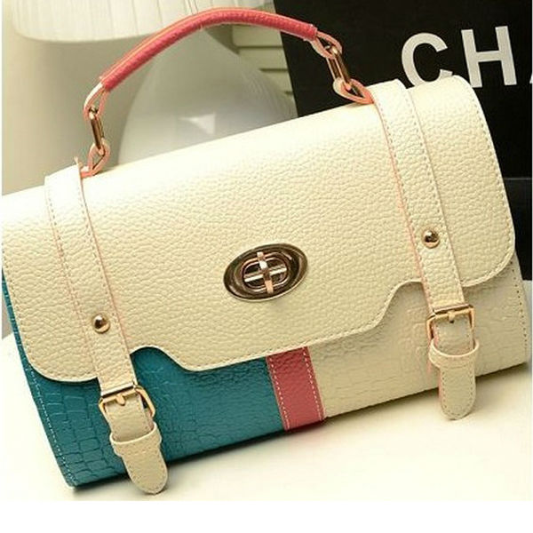 2014 new pu leather lady fashion branded handbags designer