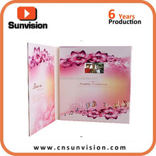 10 inch video greeting card for mother's day and father's day and teacher's day lcd display video thanksgiving cards