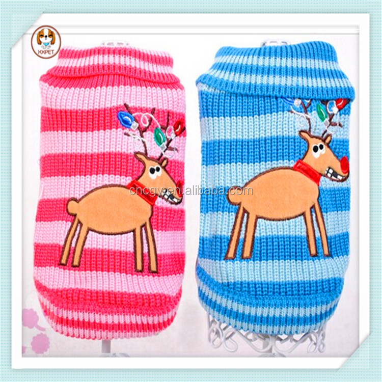 Christmas fashion clothes pet knitted dog sweater