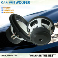 High quality dual voice coil white paper cone 500W 10 inch Car Subwoofer
