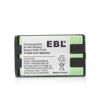 EBL Replacement Battery 3.6v 900mah Ni-MH for Panasonic Hhr-p104