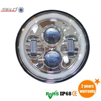7 inch 40W Ultra Bright Angel Eyes LED work light HD0840L For Jeep Wrangler/ G55/ Harley
