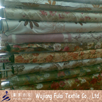 Window Curtain Heat Transfer Polyester Blackout Printed Fabric