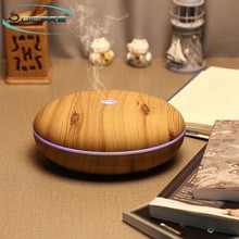 350ml portable wood grain diffuser aromatherapy electric aroma essential oil with lamp