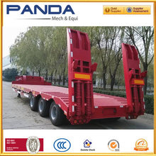 red color super low gravity 3axle low bed arc beam semi trailer for transporting large equipments and tank containers