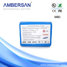 18650 8800 7.4v lithium ion battery pack rechargeable lipolymer battery