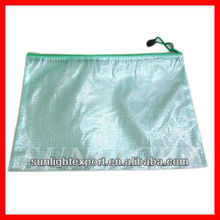 A4 PVC zippered file bag clear plastic document case