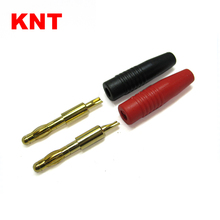 KNT 4.0mm Gold Plated Connectors Male Banana Plug