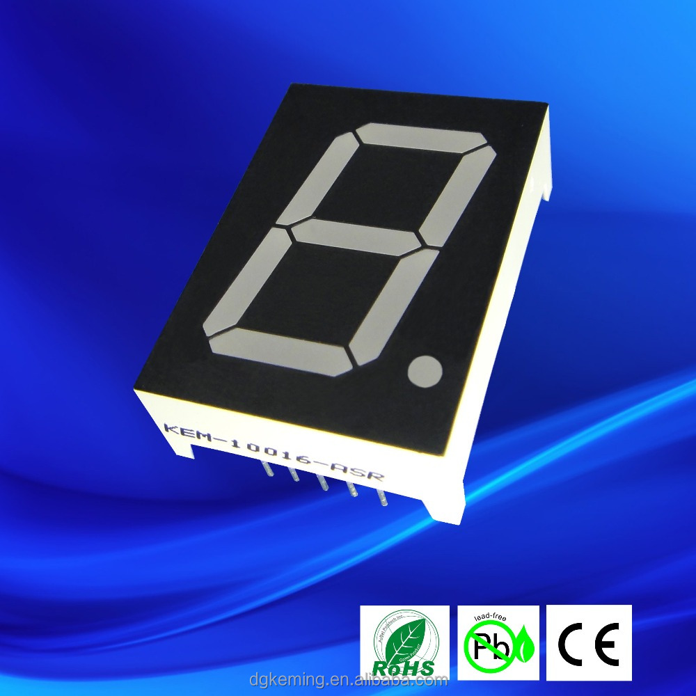 Dual bicolor 1 inch 7 segment led display single digital display