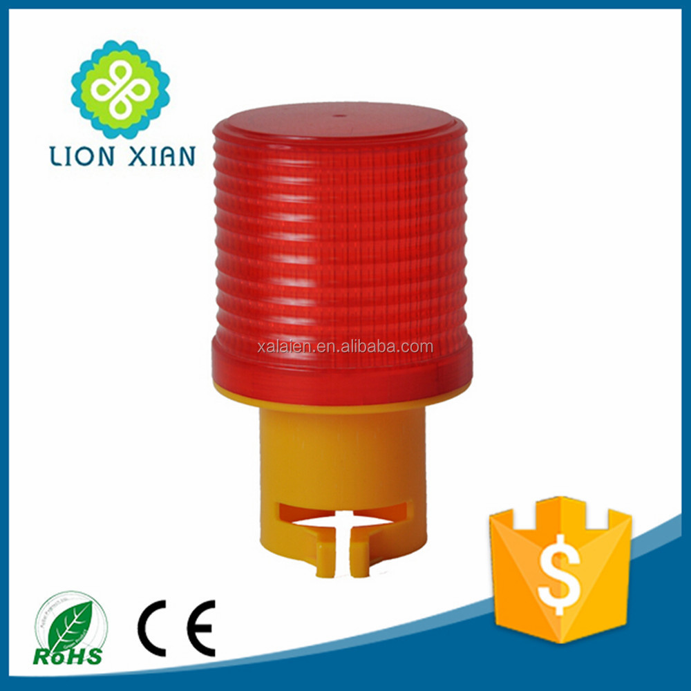 solar road construction hazard traffic warning light