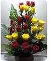 24 red & yellow roses Bouquet
