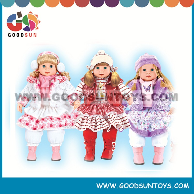 2015 hot item lovely girl baby toy lifelike baby doll toy talking doll from china