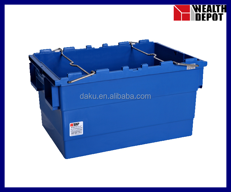 600x400x315mm Stack Nest Plastic Tote Box with Bars