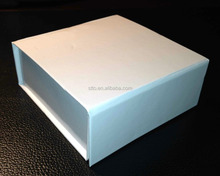 4pcs truffles / chocolates foldable flat packed rigid strong cardboard paper box with pvc tray insert
