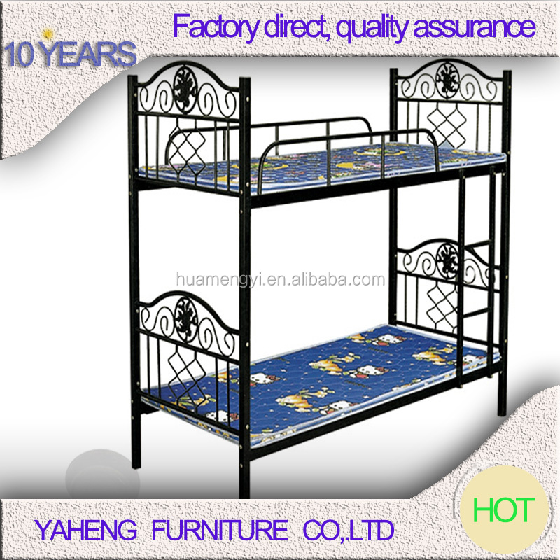 factory direct sale honey dubai adult heavy duty wrought iron metal bunk bed