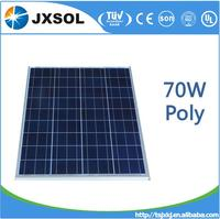 TOP solar panel 70W poly solar panel manufactory in China