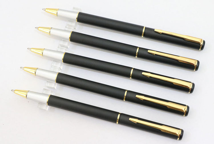 Factory direct sale high quality promotional gift black metal pen