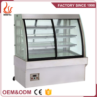 ODM Commercial Supermarket Refrigerator Front Door Cake Bakery Showcase