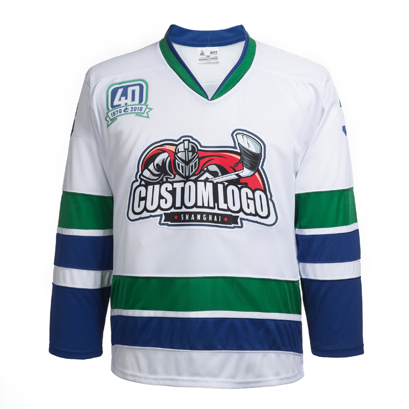 Sublimation Gum Patch And Sewn Vancouver Canucks Hockey Jersey Custom