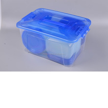 lunch box cutlery set disposable plastic food container malaysia round plastic fish bowl