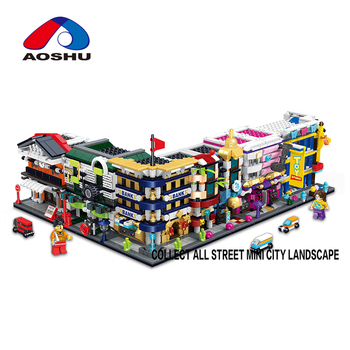 310 pcs diy city street series auto repair shop model toy large building blocks for sale
