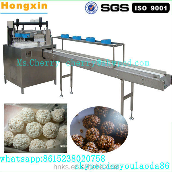 Puffed rice candy cake production line popcorn ball forming machine