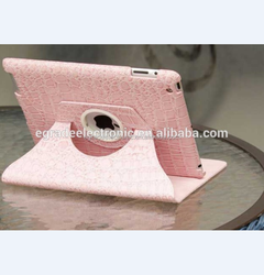 Crocodile Leather Case with Stand 360 Rotating Leather Case for iPad 2/3/4, with Sleep Function Smart Cover for New iPad