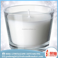 2017 the most popular square shaped glass jar candle holder artifacial natural perfume oil candle