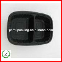 2013 high quality black ps plastic blister food tray