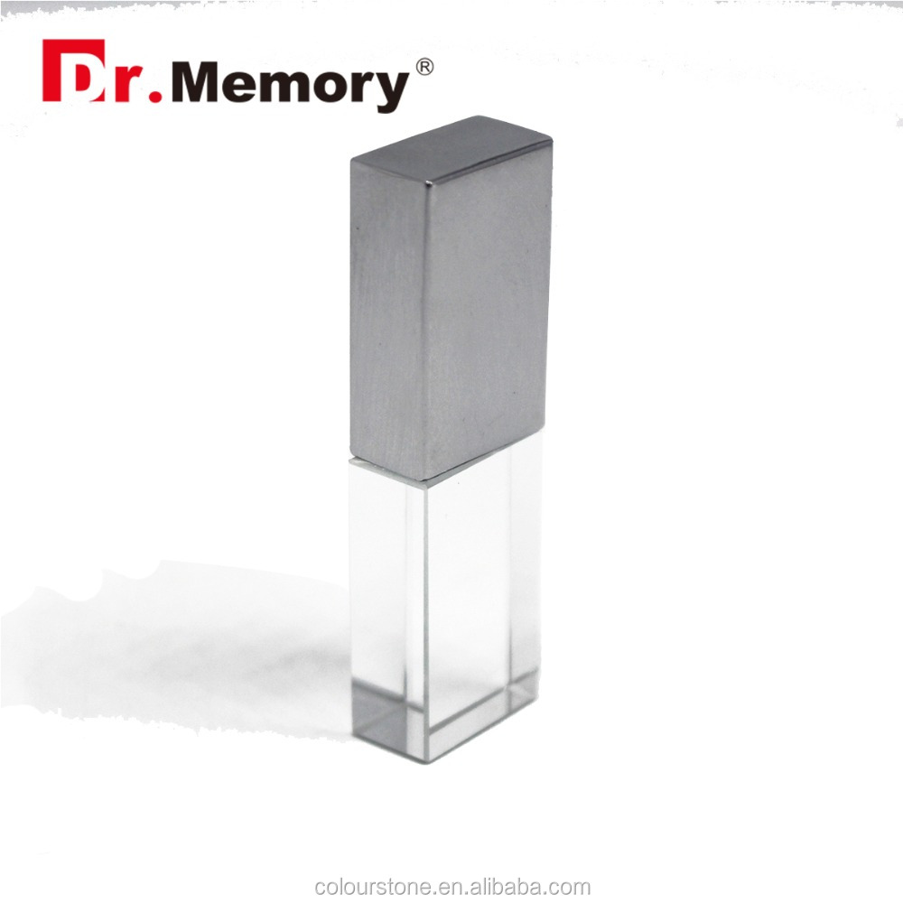 Dr.memory custom 3D logo crystal metal usb flash drive 2GB 4GB 8GB 16GB accept paypal/T.T/Western union