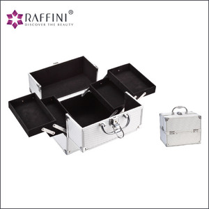 Exquisite workmanship reasonable design printed jewelry and cosmetics Makeup Storage Box With Tray