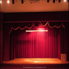 Motorized fire resistant velvet fabric theater drapes electric stage curtains