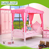 High quality modern cheap kid furniture Princess Palace wooden single bed