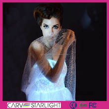 fiber optic luminous led red and pink and white wedding dresses