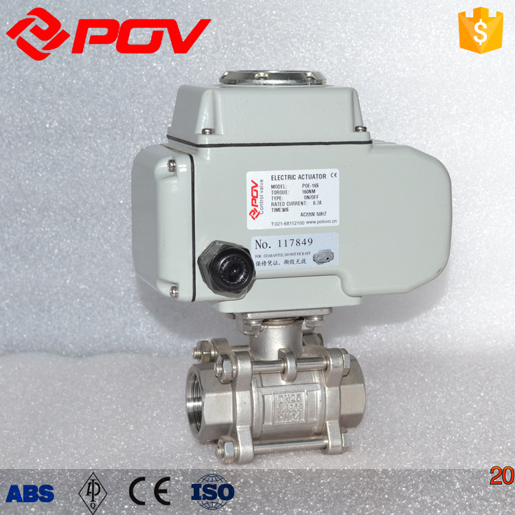 electric motorized ISO 5211 mounting pad Threaded ball valve