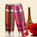 fashion stainless steel car mug electric mug with car plug stainless steel mug thermal cup