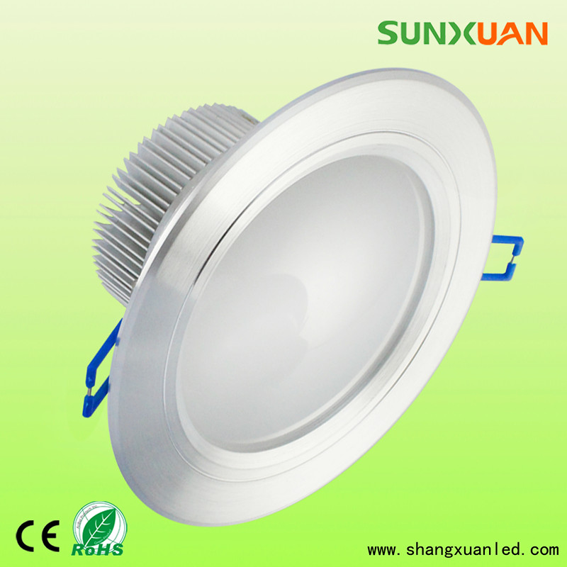 7W LED down light housing globe light fittings