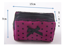 Hot Sell Promotional Mesh Fashion Travel Cosmetic Bag Factory Stock Avaliable