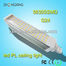 high quality g24d-3 led PL Lamp housing 85-265V 13W 5630 SMD
