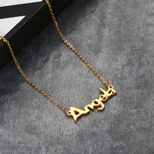2017 Latese Fashion Ladies Name Design Pendant,18K Gold Plated Design Chain Alphabets Pendant Necklace For Women