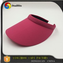 custom design fashion red colour ladies summer sun visor