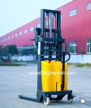 Warehouse use semi electric stacker 2T 2M electric stacker forklift truck electric pedestrian stacker