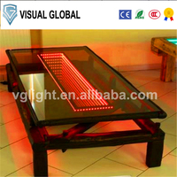 Wholesale outdoor stainless steel led glass portable interactive long bar table