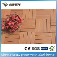 Easy-assembly and reasonable price wpc decking tile/outdoor decking tile for sale