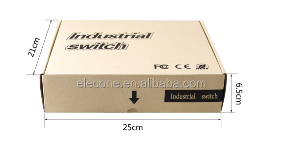 10/100/1000M gigabit SFP Media Converter with industrial type switch